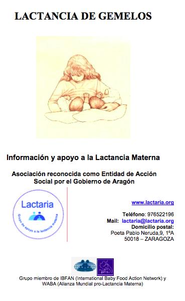 Folleto Lactaria lactancia gemelos