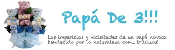 Imagen de cabecera del blog de papa de 3