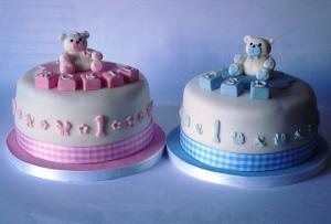 tartas primer cumpleaños gemelos mellizos